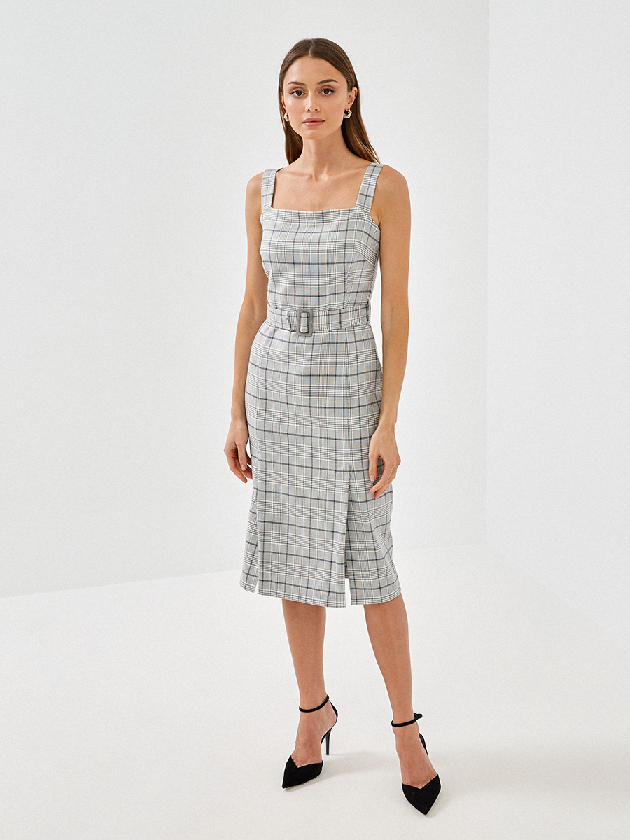 Платье с принтом клетка