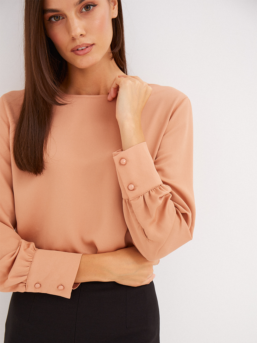 Блуза однотонная